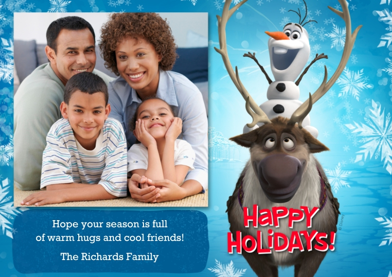 Holiday Photo Cards 5x7 Cards, Premium Cardstock 120lb, Card & Stationery -Disney Frozen Olaf