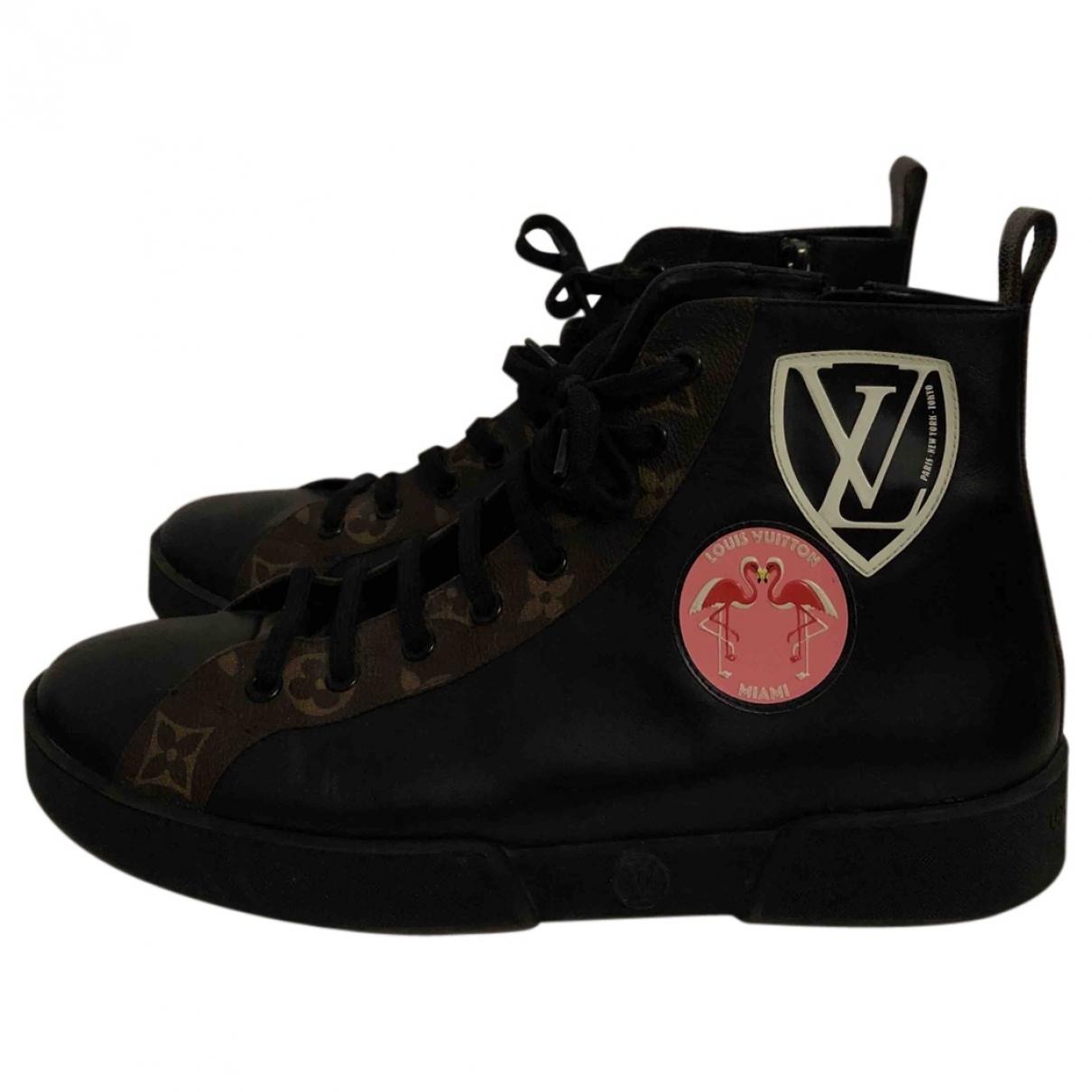 Louis Vuitton Stellar Black Leather Trainers for Women 39 EU