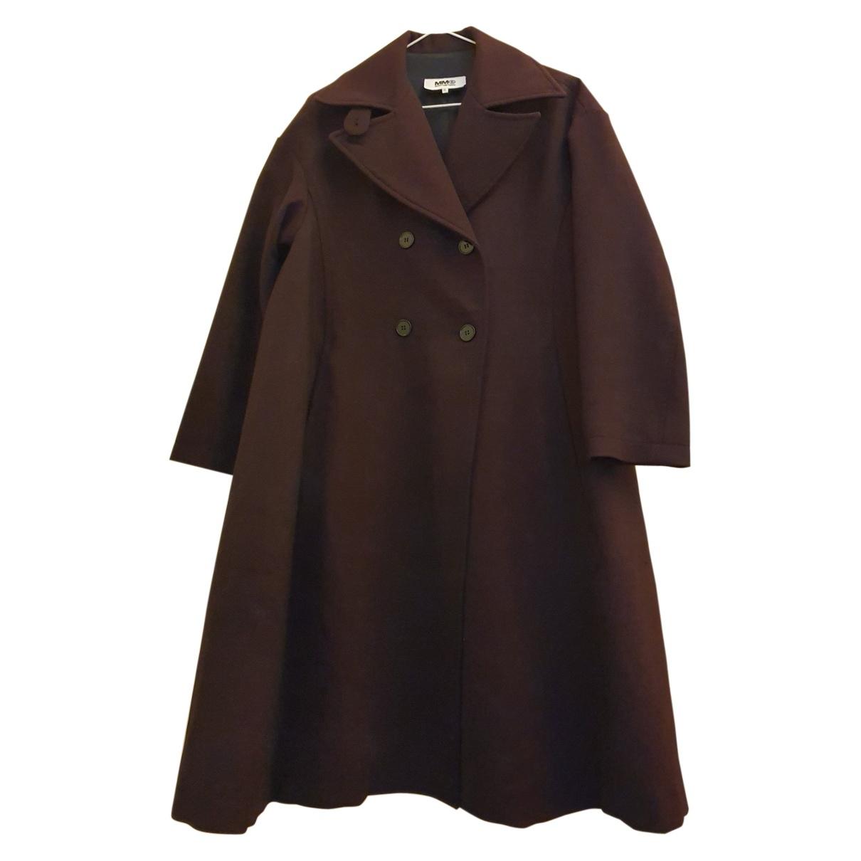 Mm6 \N Purple Wool coat for Women 42 IT