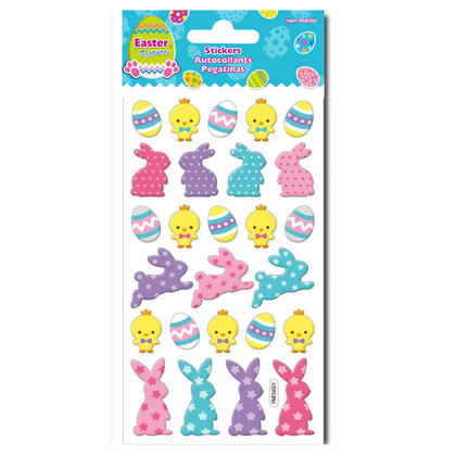 Easter Epoxy Stickers with Glitter, 8.5''x 3.95'' - Style 02