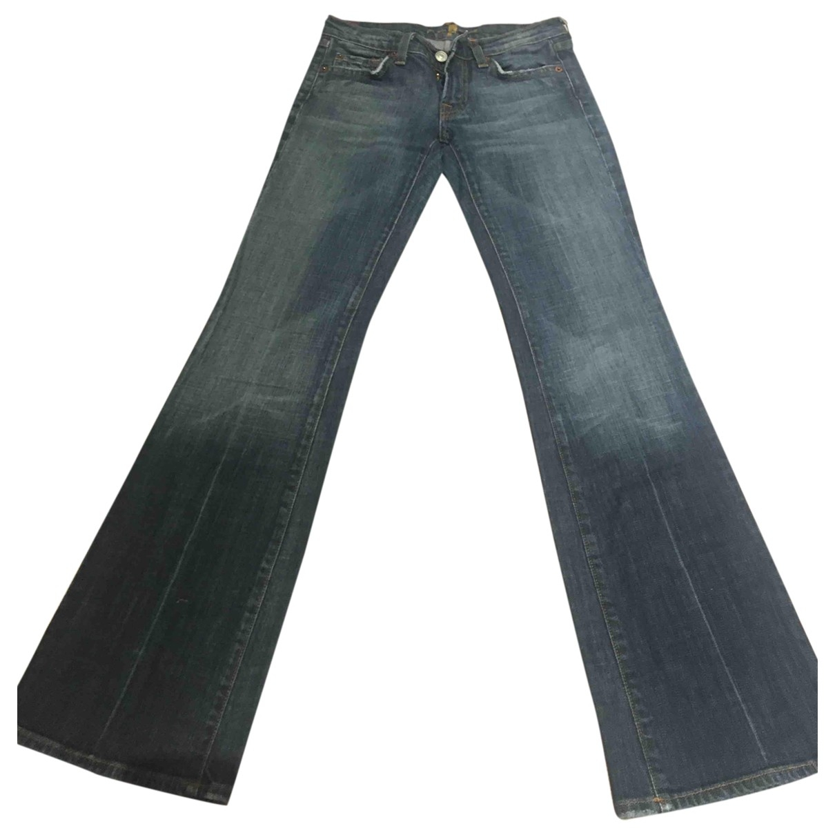 7 For All Mankind \N Blue Denim - Jeans Jeans for Women 24 US