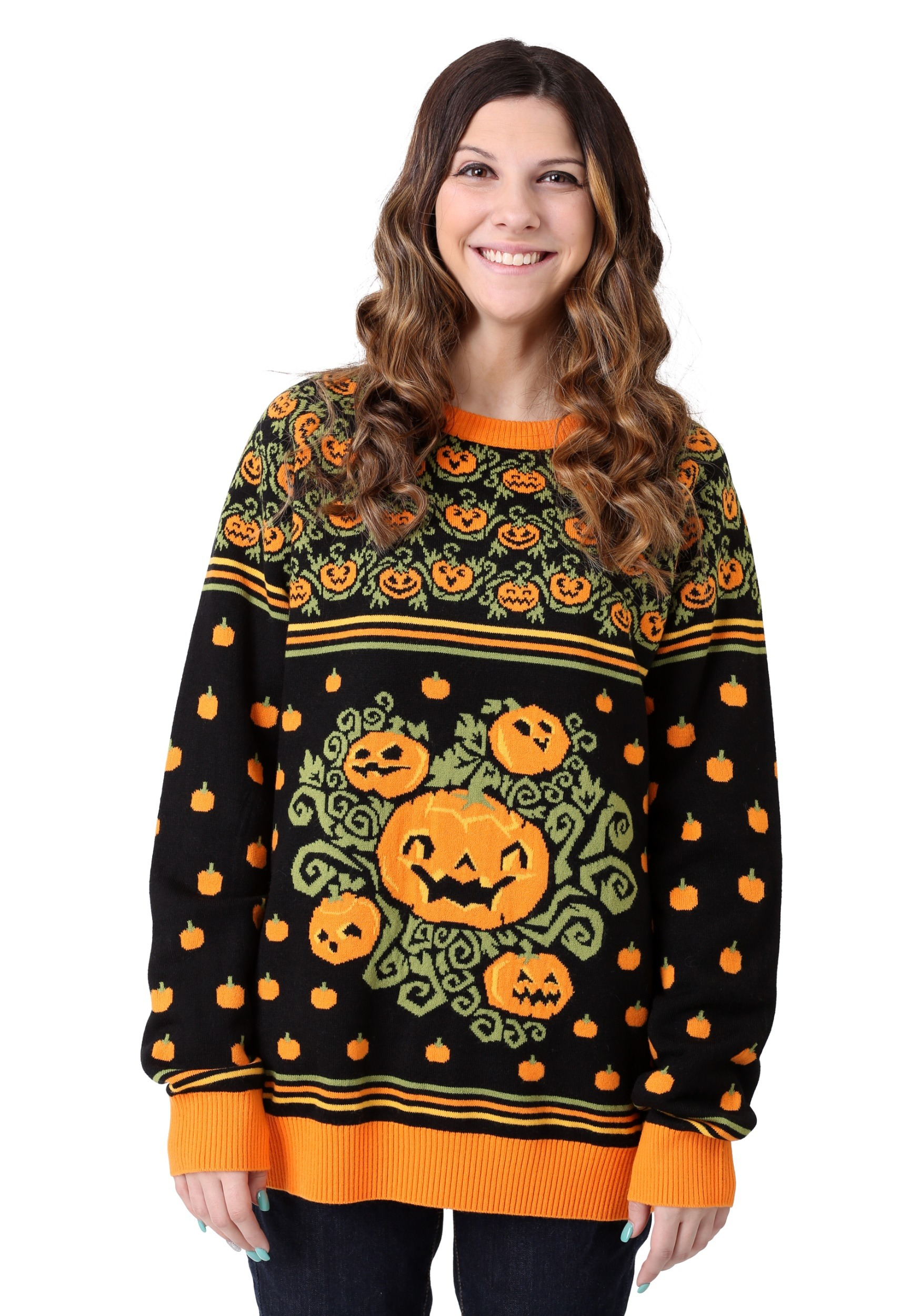 Pumpkin Patch Ugly Halloween Sweater for Adults | Exclusive