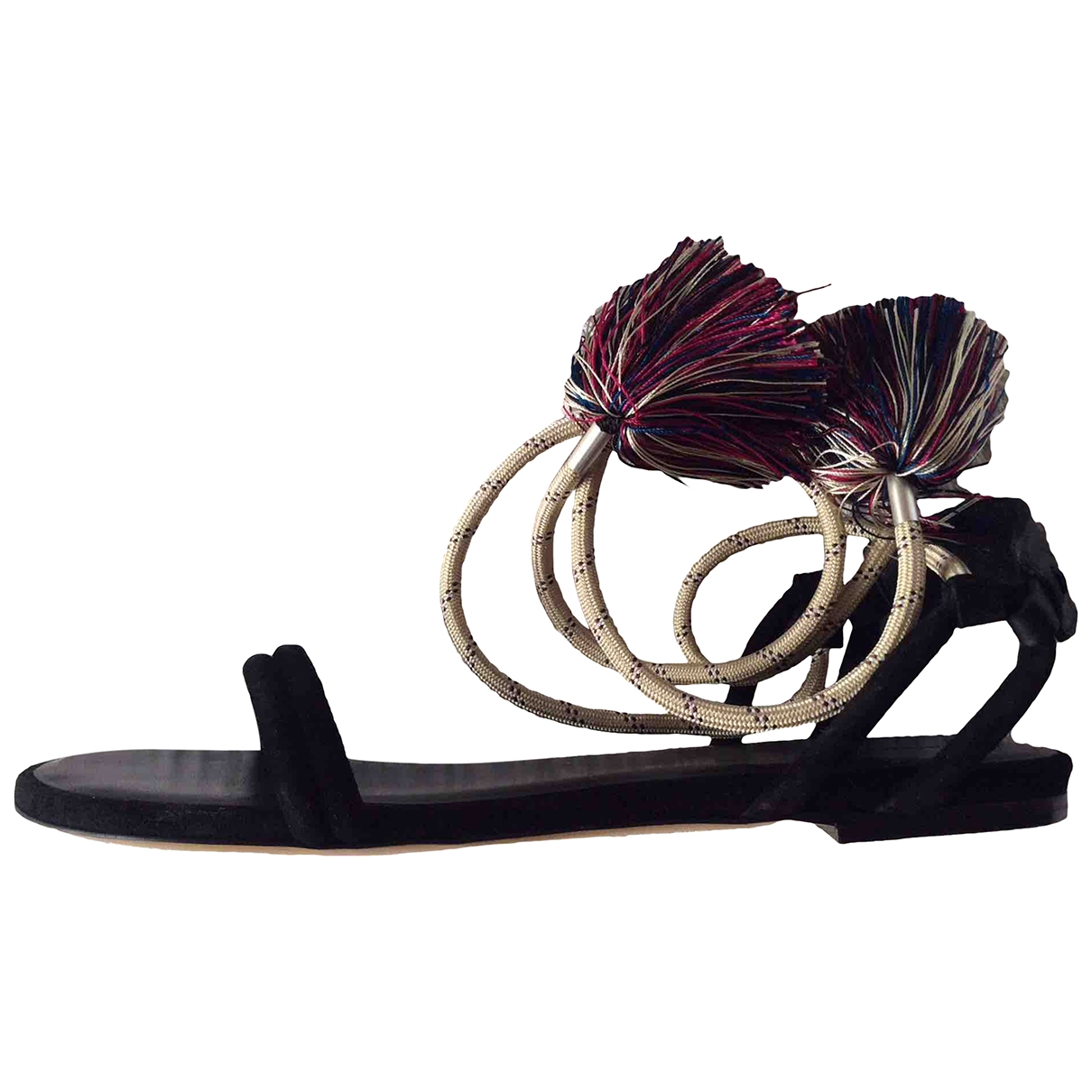 Isabel Marant \N Black Leather Sandals for Women 37 EU