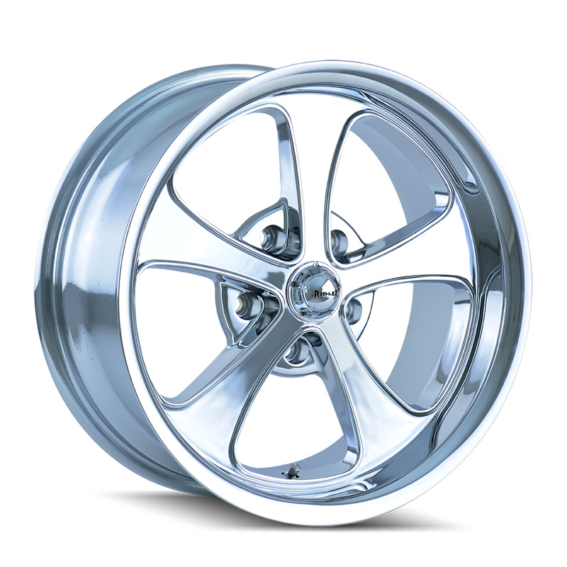 Ridler 645 Chrome 17x8 5x114.3 0mm 83.82mm Wheel