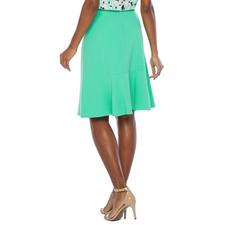Black Label by Evan-Picone Suit Skirt, 6 , Green