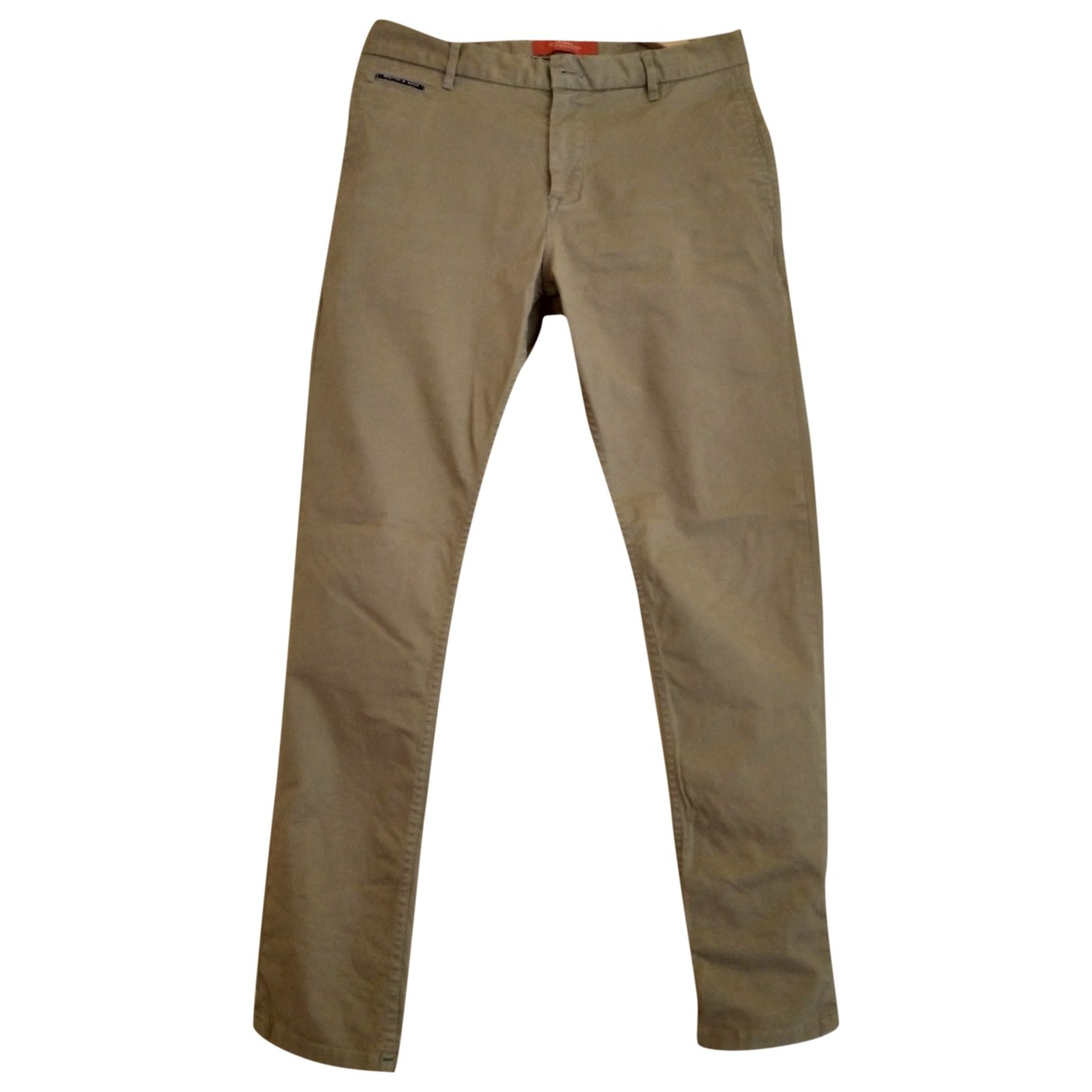 Scotch & Soda \N Beige Cotton Trousers for Men M International