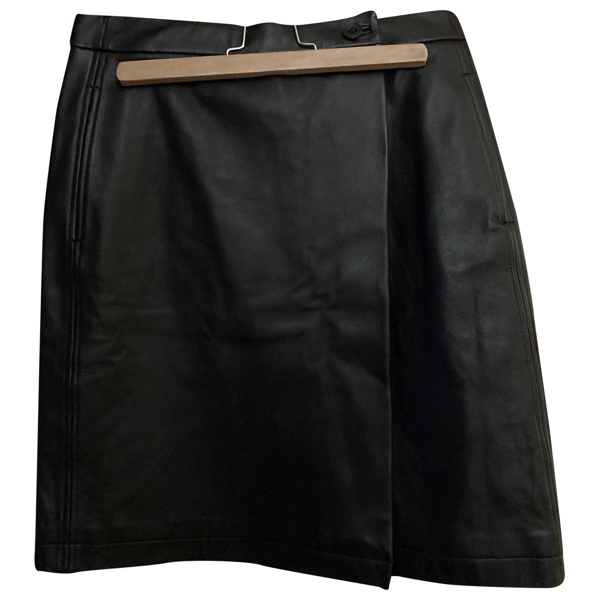 Soeur \N Black Leather skirt for Women 40 FR