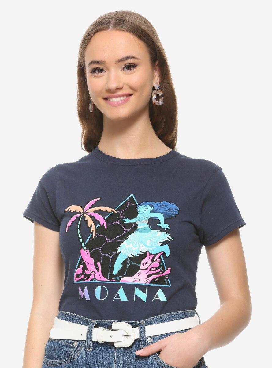 Disney Moana Neon Triangle Women's T-Shirt