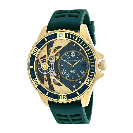 Oceanaut Mens Green Strap Watch-Oc0995, One Size , No Color Family