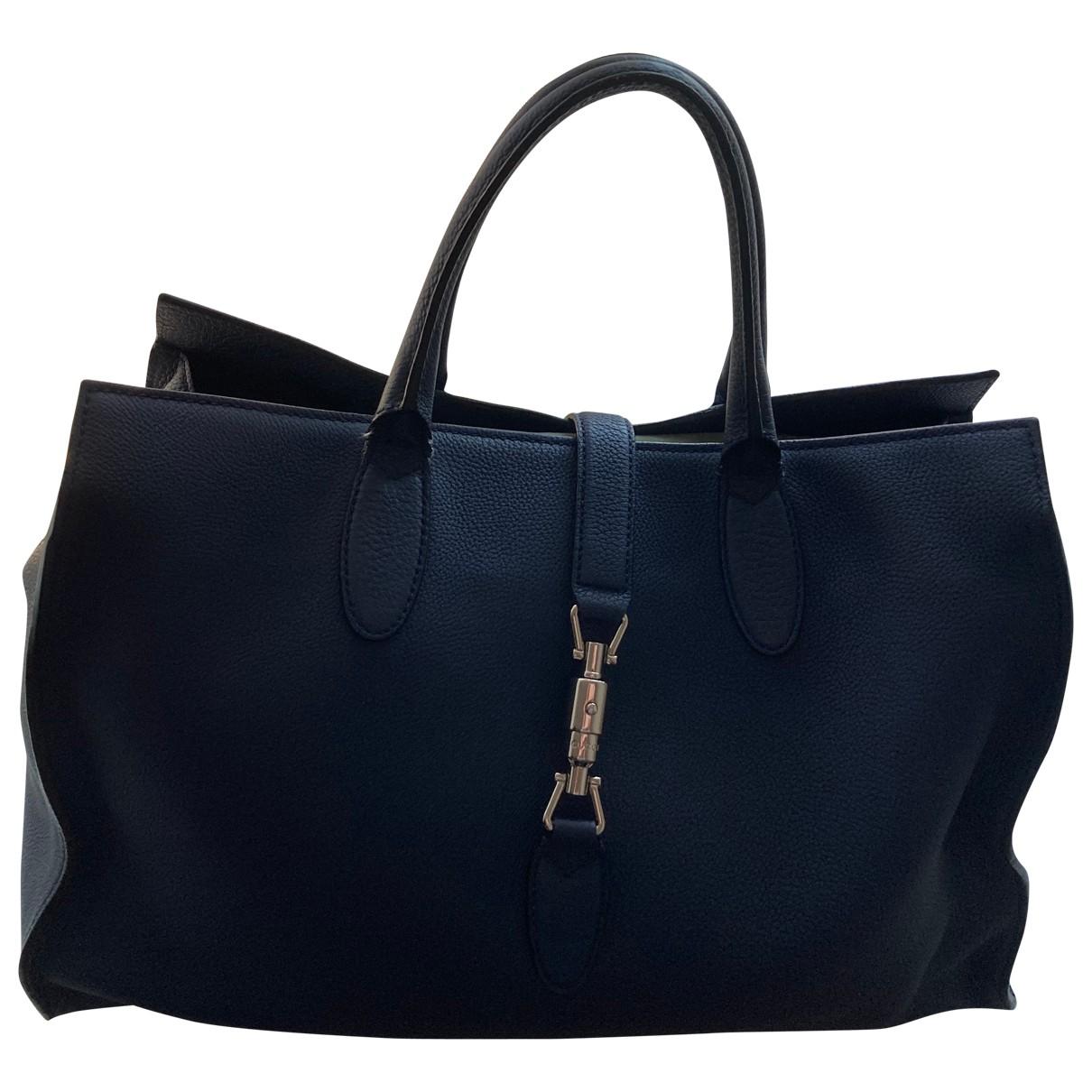 Gucci \N Blue Leather handbag for Women \N