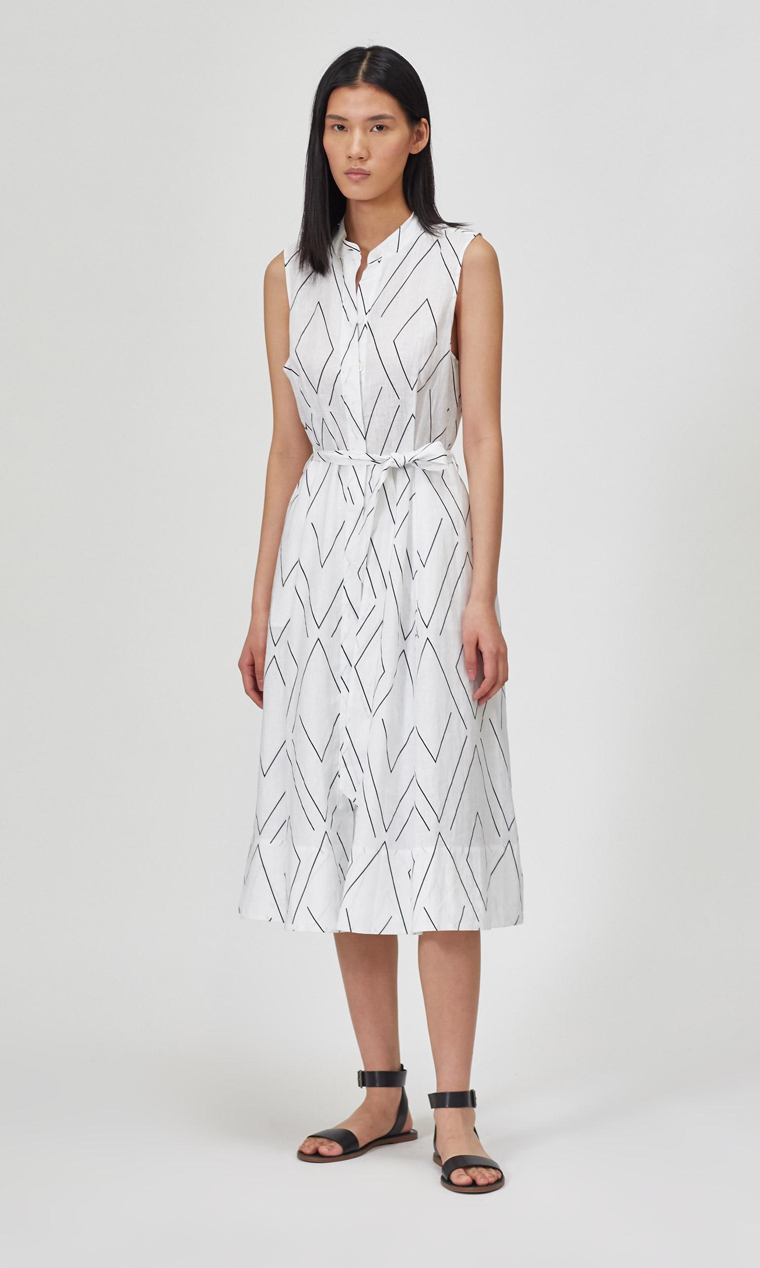 Short Clevete Linen Dress by Equipment
