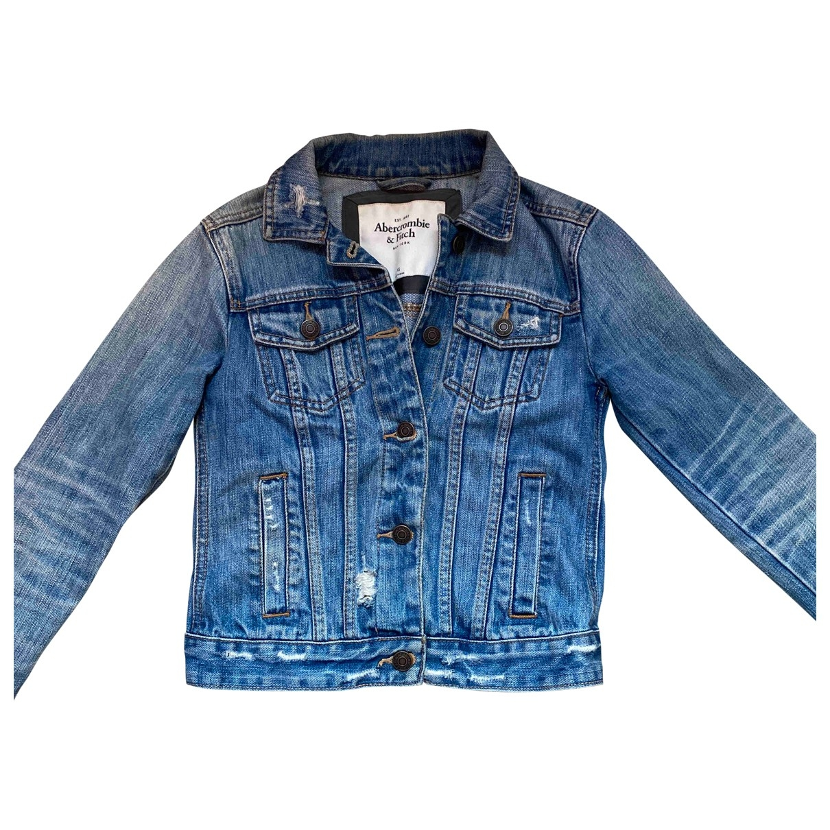 Abercrombie & Fitch \N Blue Denim - Jeans jacket & coat for Kids 14 years - S FR