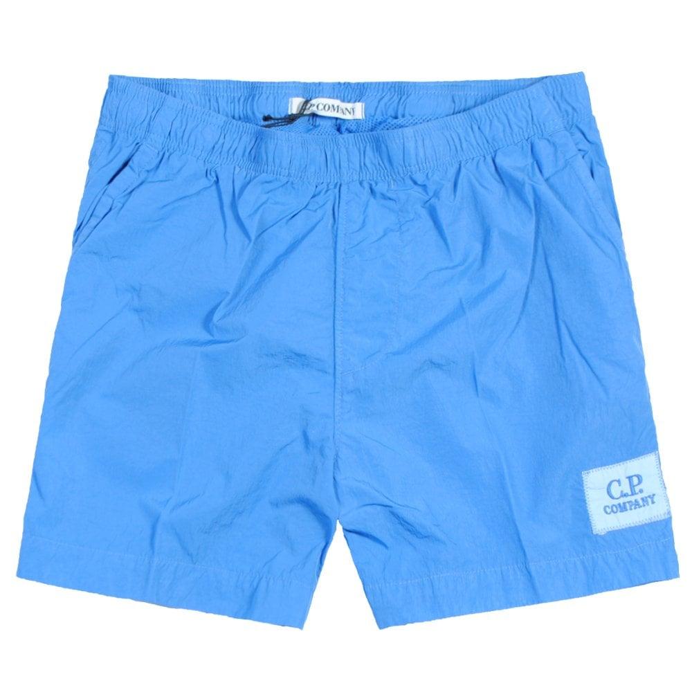 C.p. Company C.P Company Kids Logo Patch Swimshorts Colour: BLUE, Size