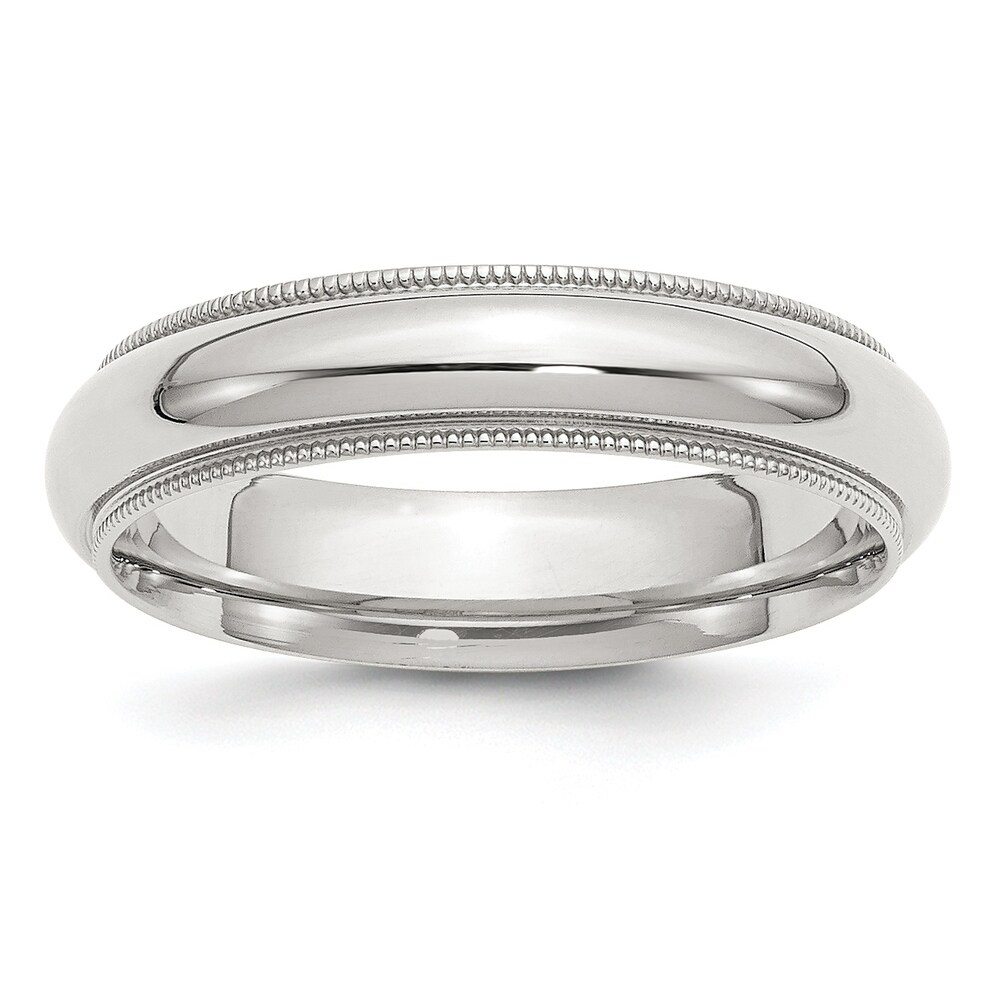 Sterling Silver 5mm Milgrain Comfort Fit Band by Versil (13)