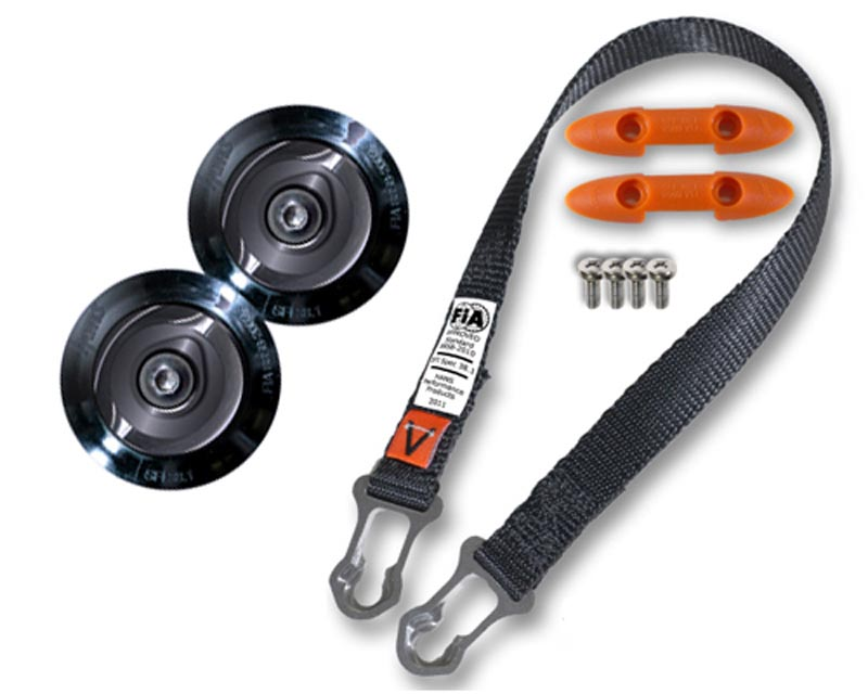 Hans Tether Upgrade Kit / Post Anchor Collar Pro Model w/Sport II Sliding Tether for SAH Helmet