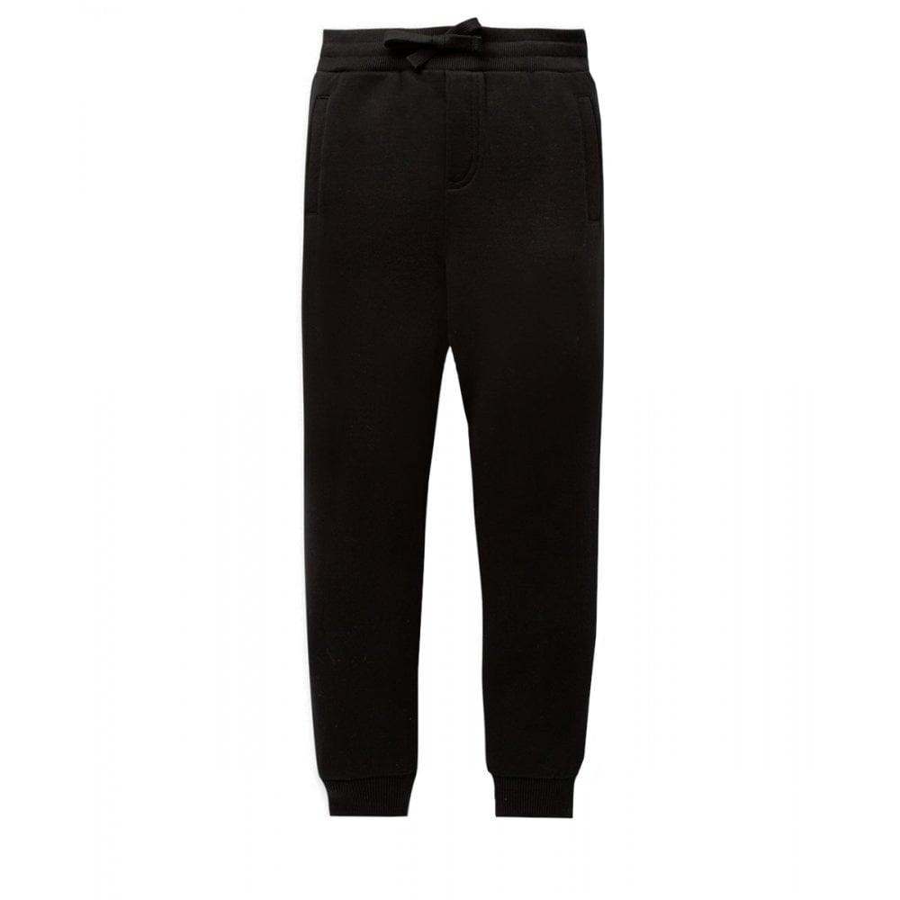 Dolce & Gabbana Cotton Joggers Colour: BLACK, Size: 8 YEARS
