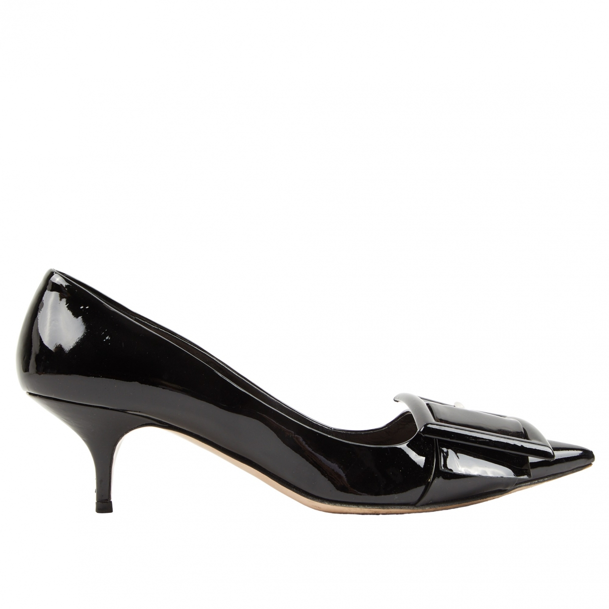 Miu Miu \N Black Patent leather Heels for Women 39.5 EU
