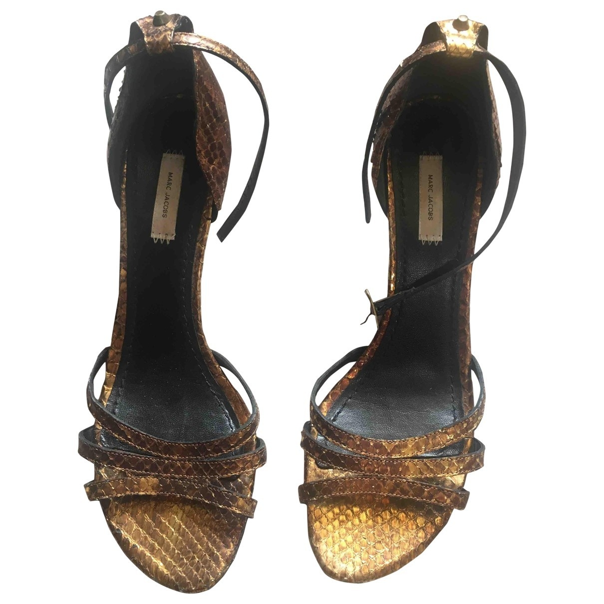Marc Jacobs \N Gold Leather Sandals for Women 40 EU