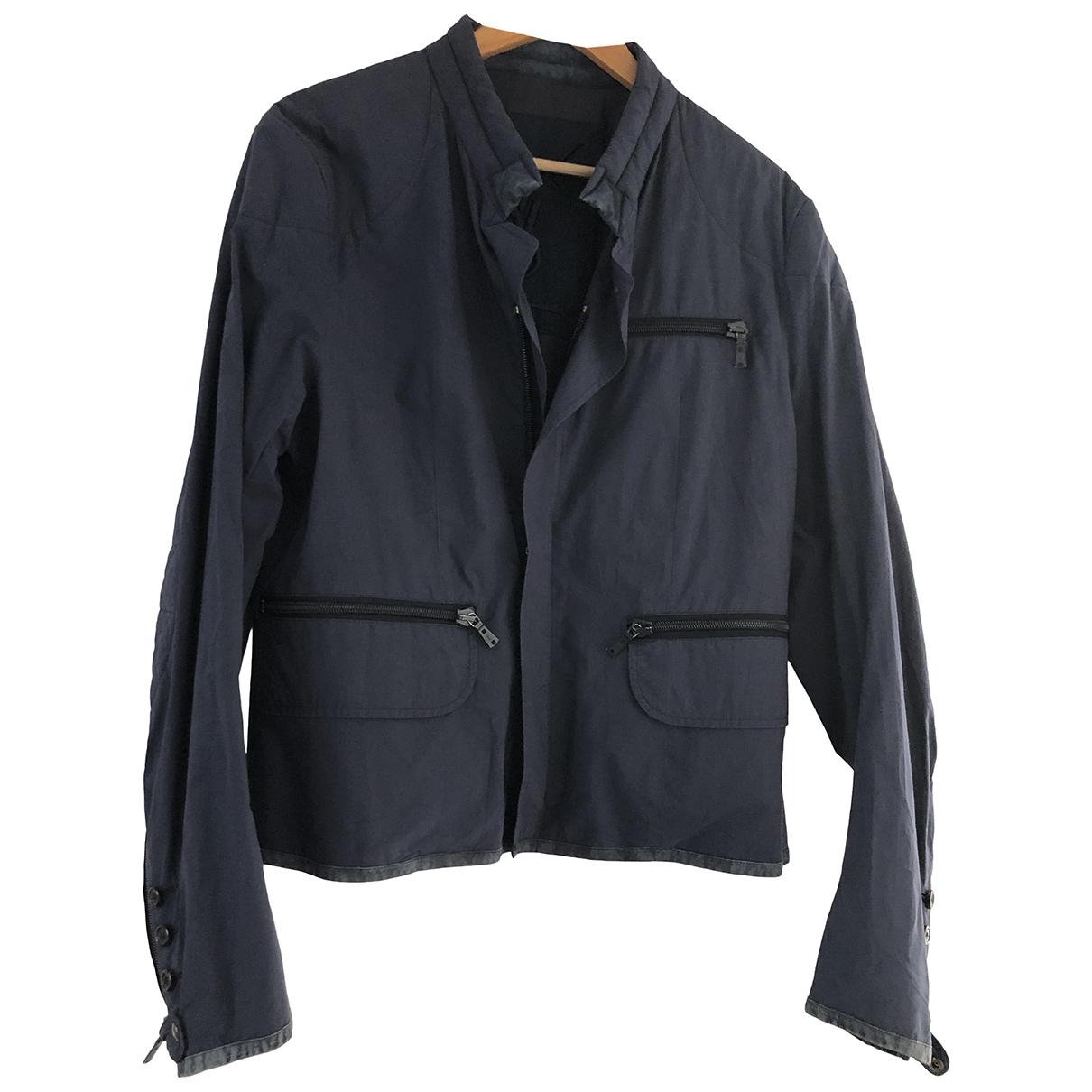 Yves Saint Laurent \N Navy Cotton jacket  for Men 54 FR