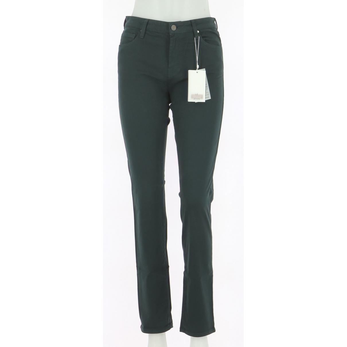 Comptoir Des Cotonniers \N Green Cotton Jeans for Women 38 FR