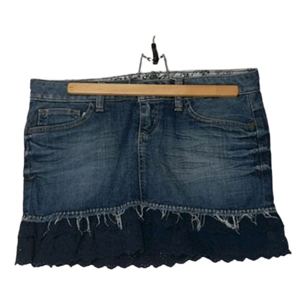 Guess \N Blue Cotton skirt for Women 38 FR