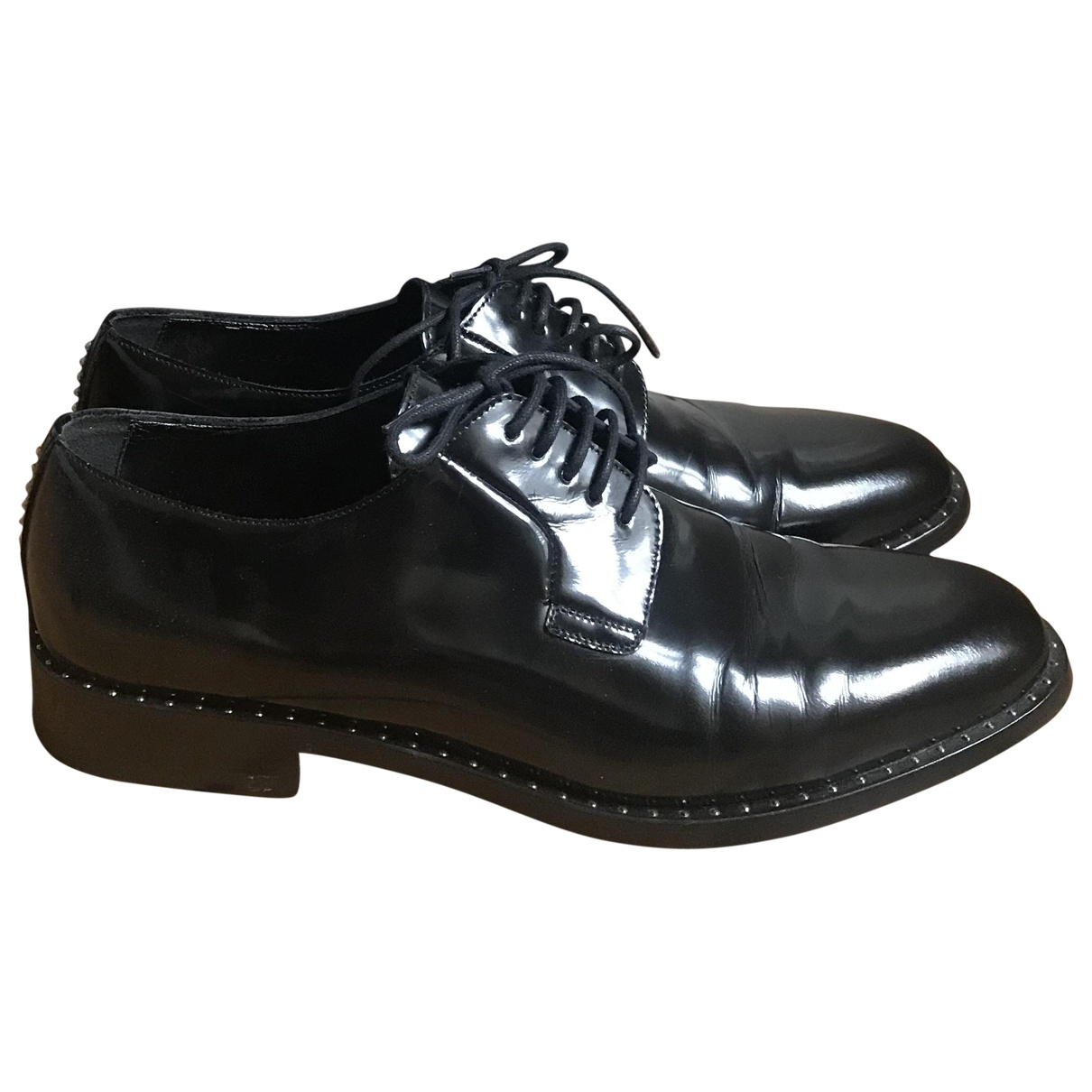 Saint Laurent \N Black Leather Lace ups for Women 39.5 EU