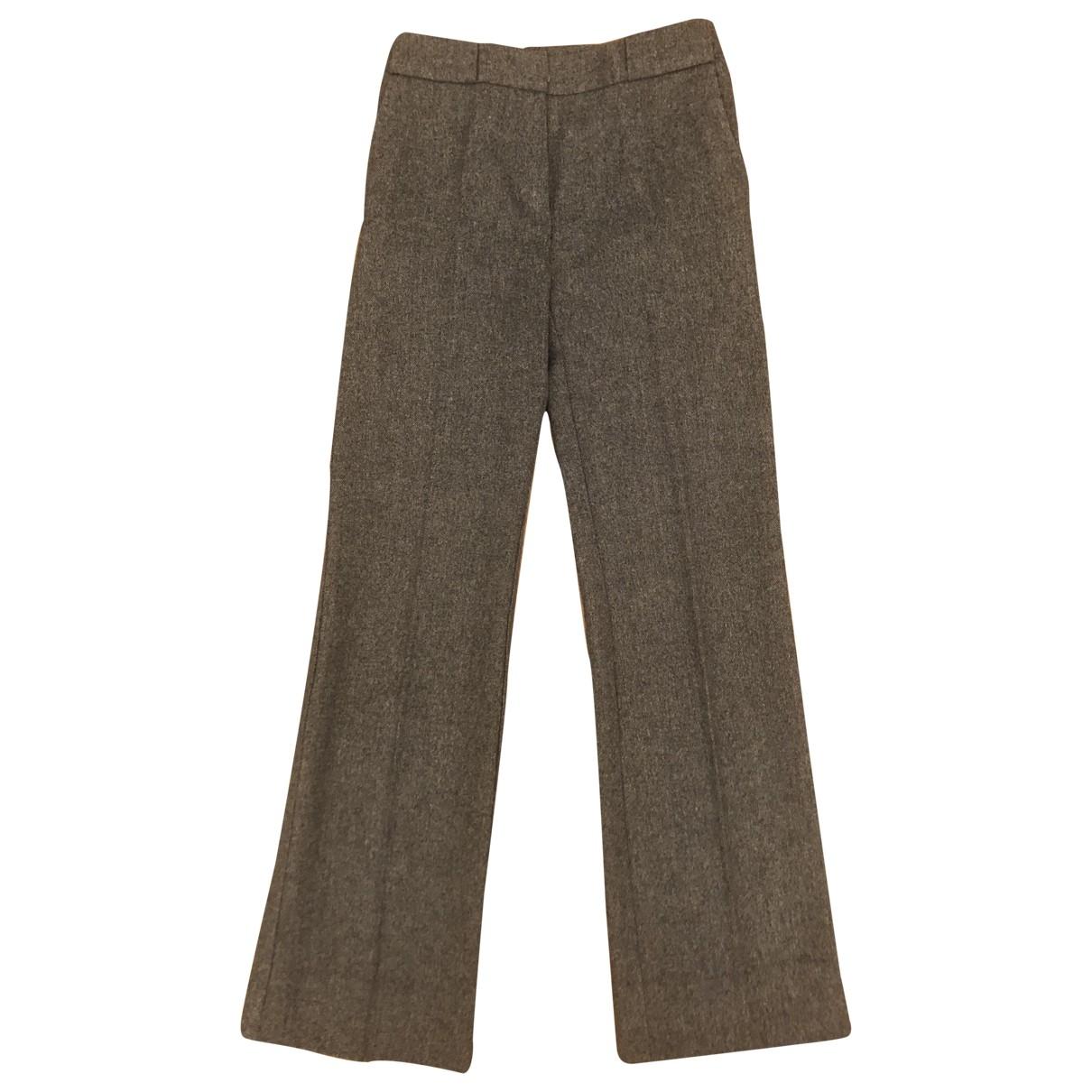 Max Mara \N Grey Wool Trousers for Women 36 IT