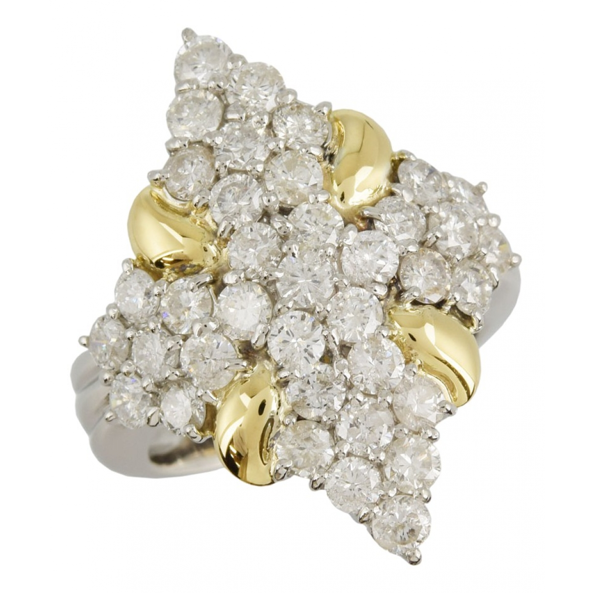 Non Signé / Unsigned \N Platinum ring for Women 51 EU