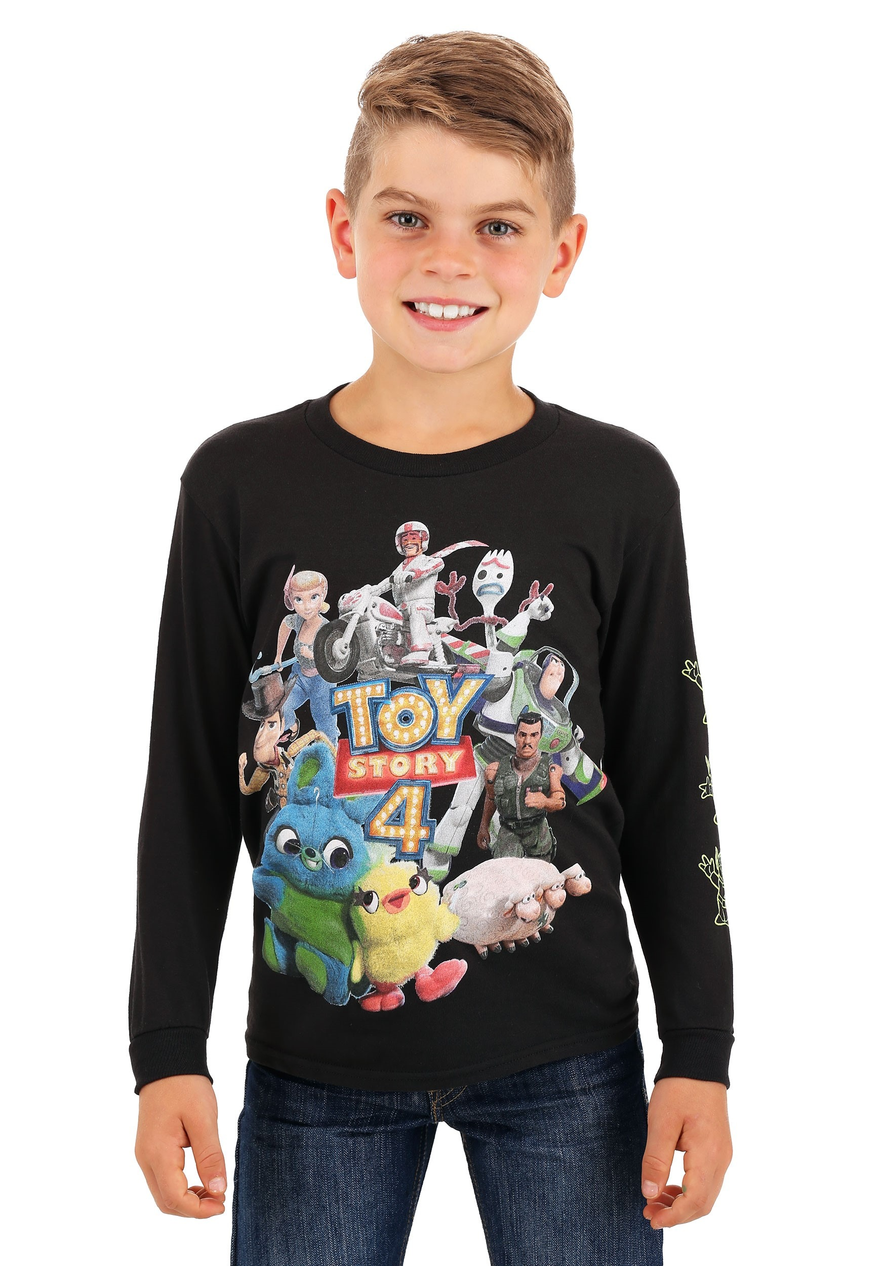 Toy Story 4 Character Group Long Sleeve Shirt for Boys