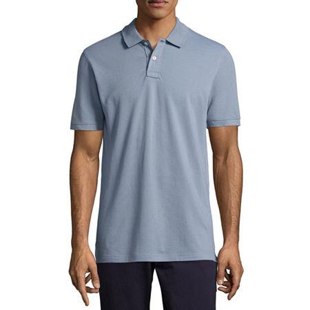Arizona Mens Short Sleeve Polo Shirt, X-small , Blue