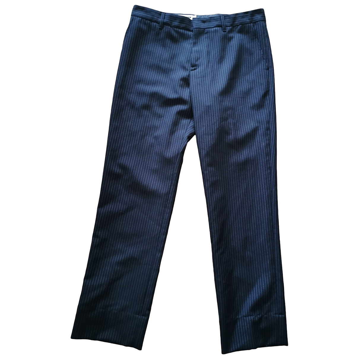 Jil Sander \N Blue Wool Trousers for Women 38 FR