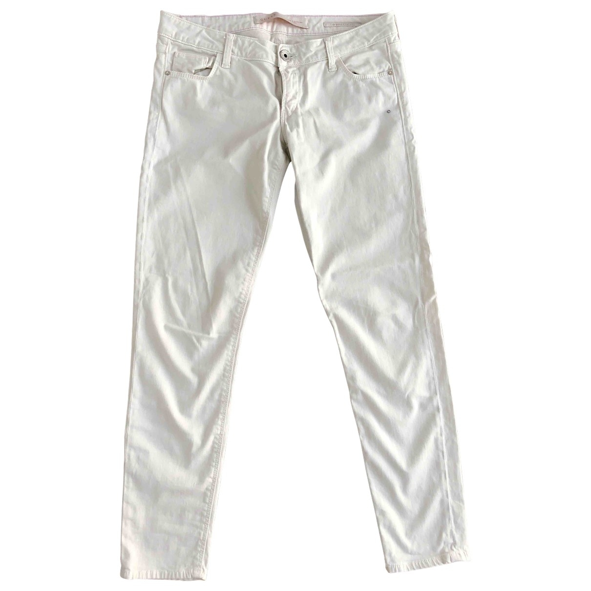 Guess \N White Cotton - elasthane Jeans for Women 30 US