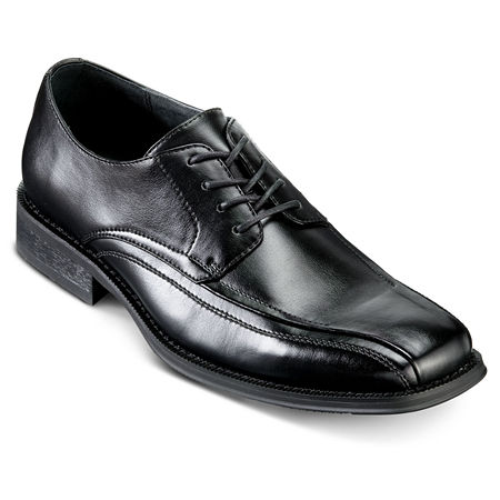JF J. Ferrar Derby Mens Dress Shoes, 10 1/2 Wide, Black