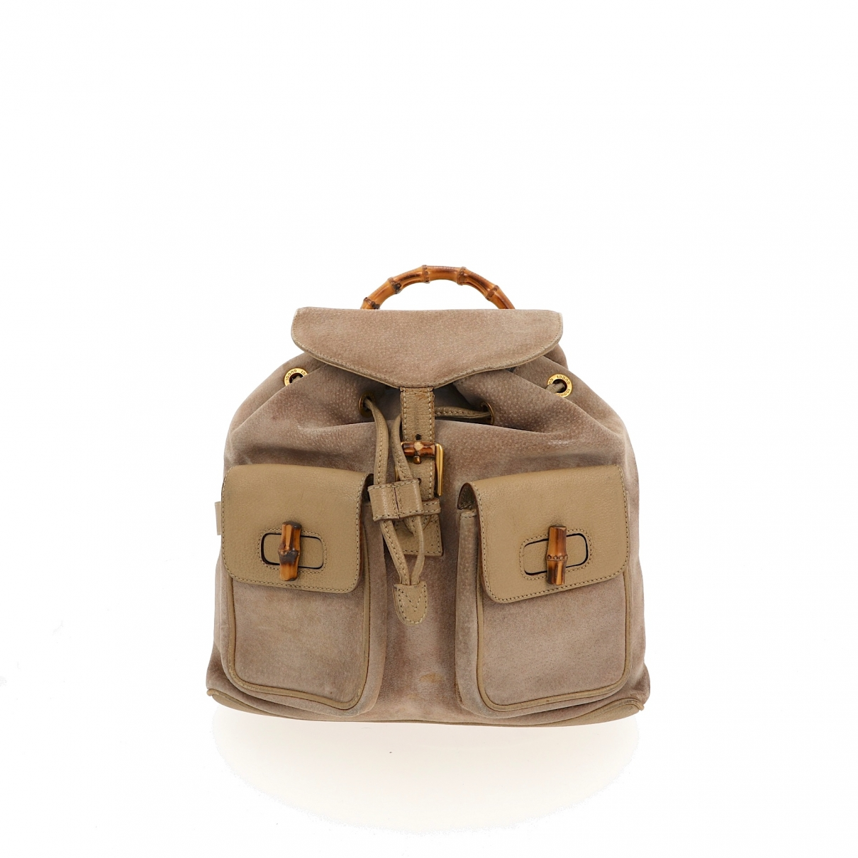 Gucci Bamboo Beige Suede backpack for Women \N