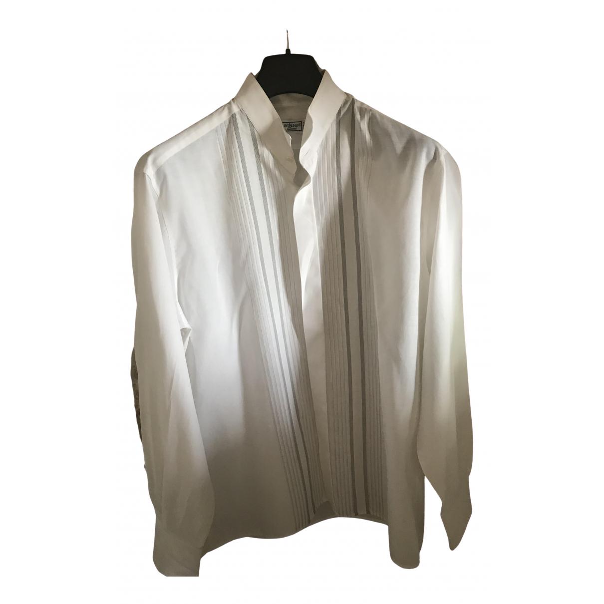 Yves Saint Laurent \N White Cotton Shirts for Men M International