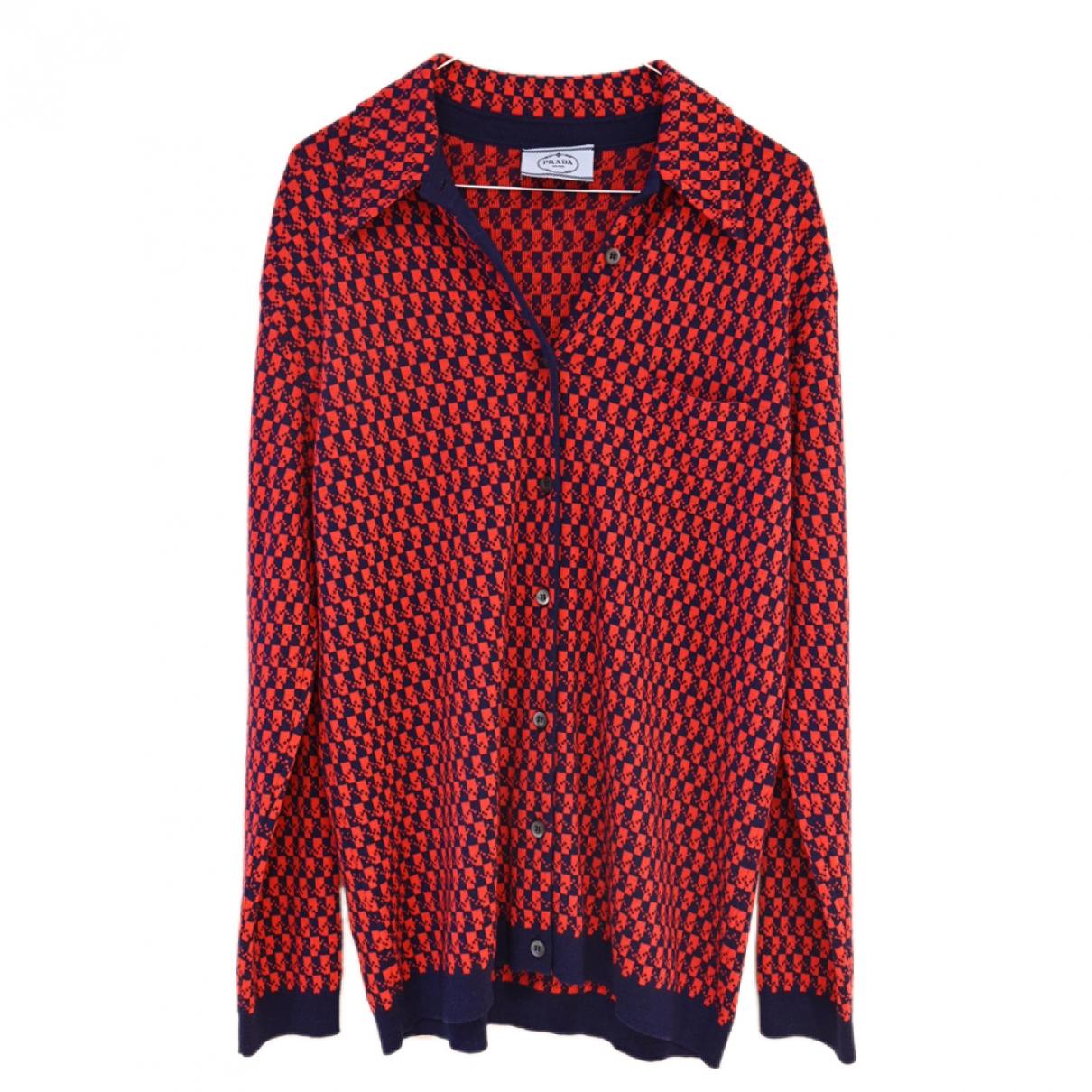 Prada \N Red Wool  top for Women 14 UK