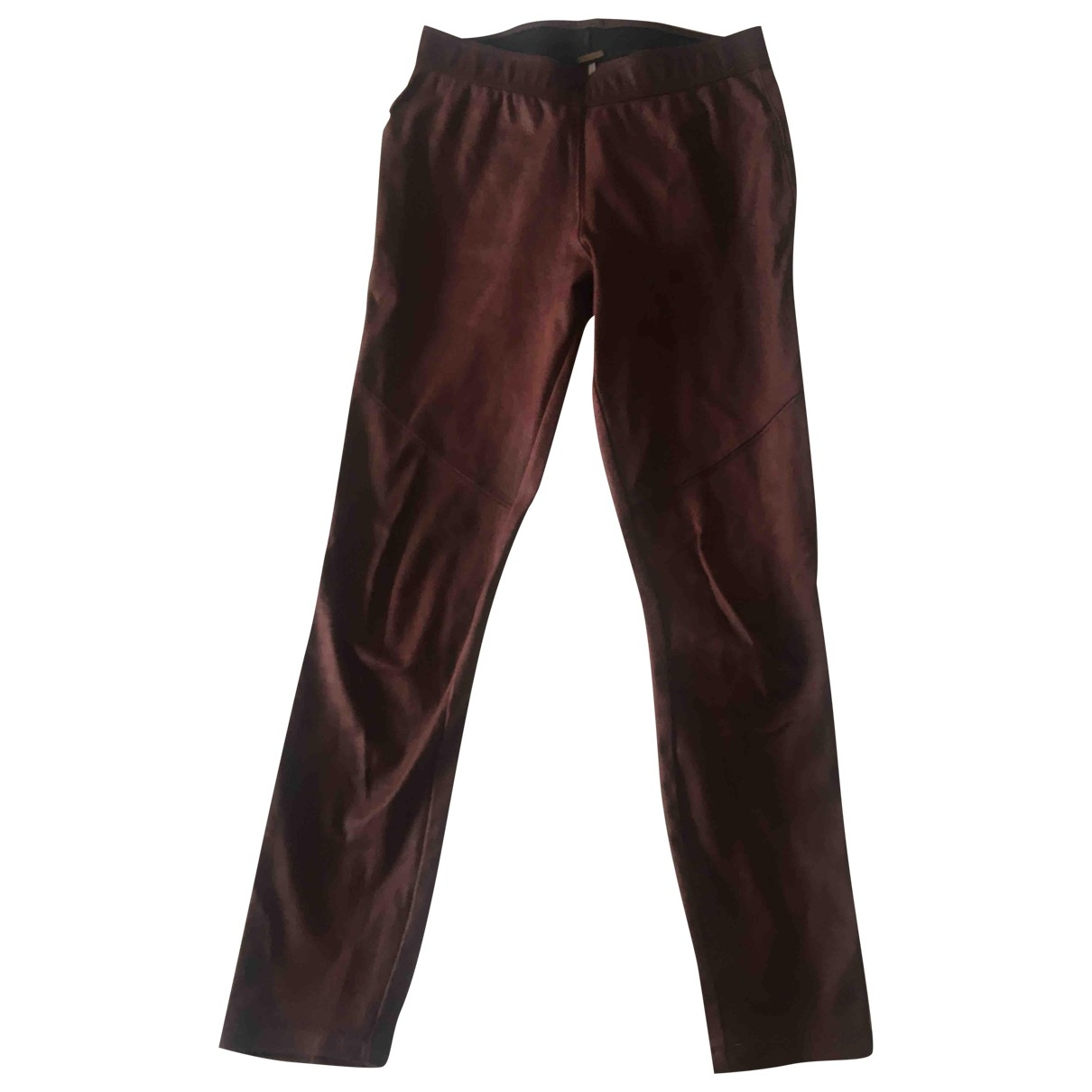 Free People \N Burgundy Trousers for Women 8 UK