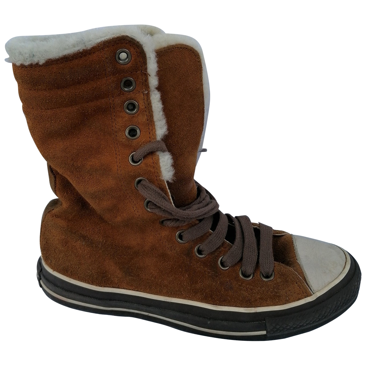 Converse \N Brown Leather Trainers for Women 6 UK