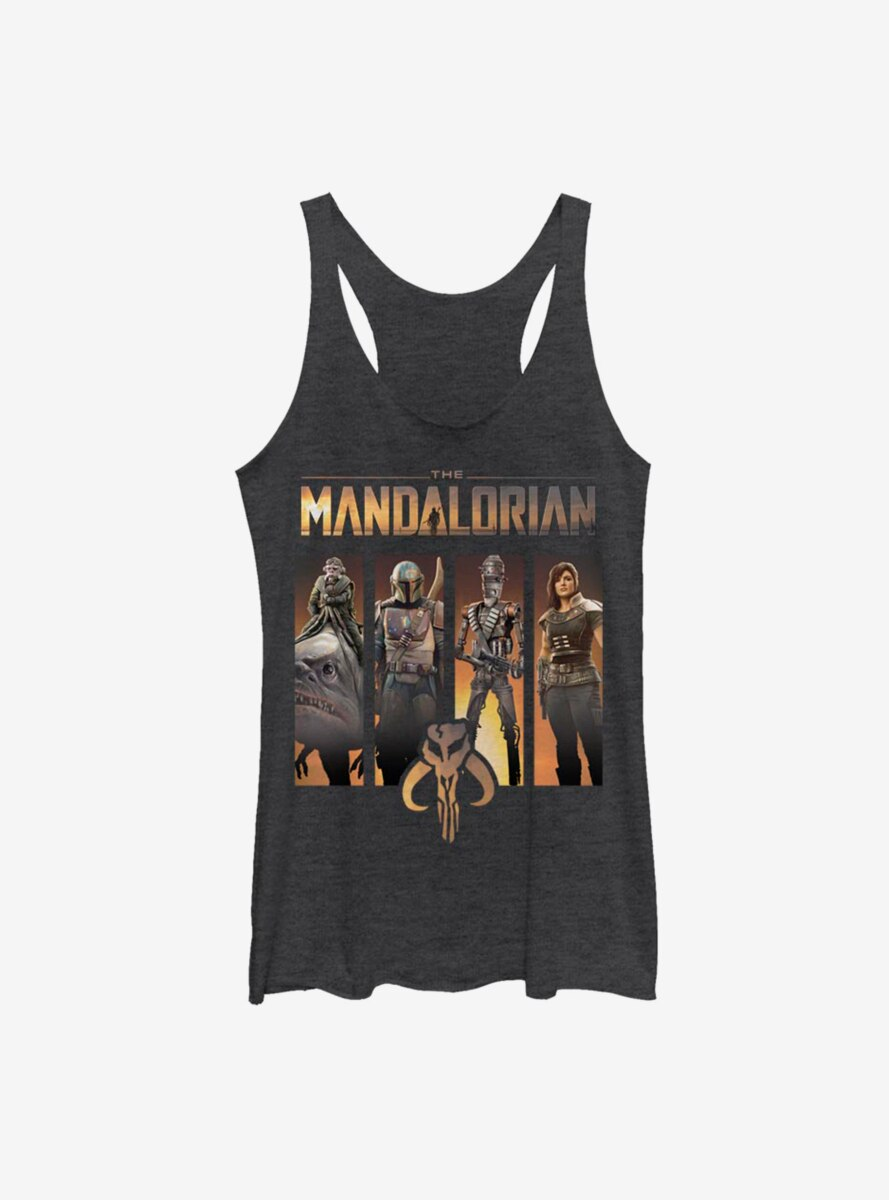 Star Wars The Mandalorian Character Panels Womens Tank Top