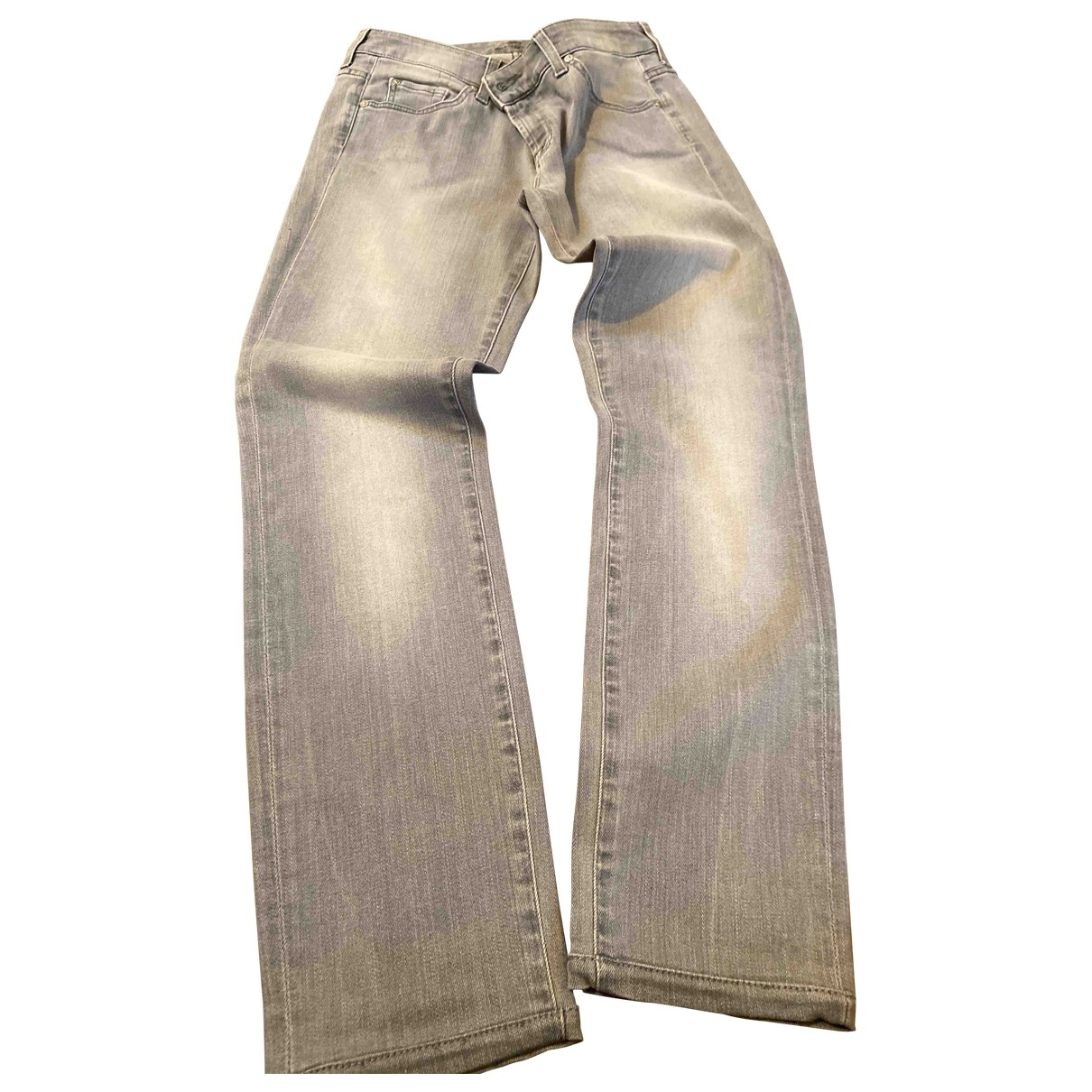 7 For All Mankind \N Grey Cotton Trousers for Women 44 IT