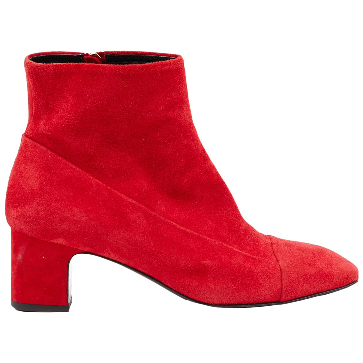 Hermès \N Red Suede Ankle boots for Women 36.5 EU