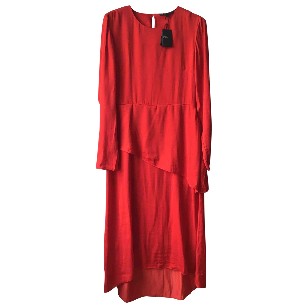 Maje Spring Summer 2019 Red dress for Women 38 FR