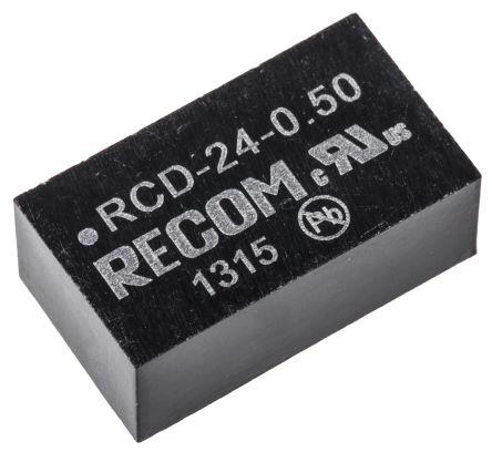 Recom RCD-24-0.50 LED Driver IC, 4.5  36 V dc 500mA 6-Pin PCB