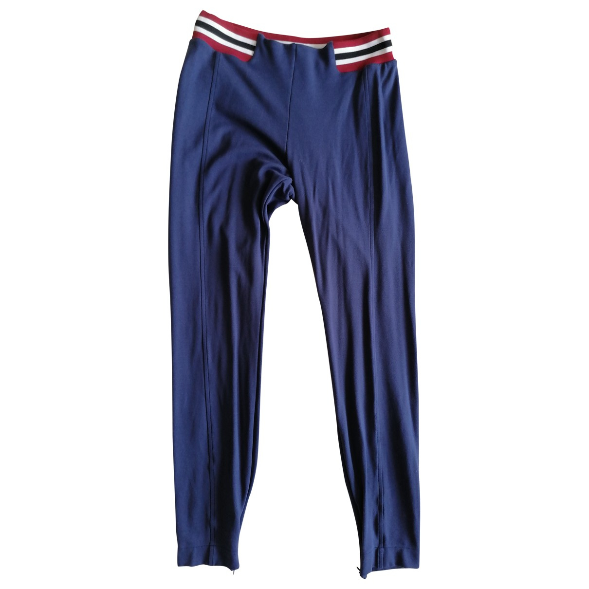 Moschino Love \N Blue Cotton Trousers for Women 42 IT