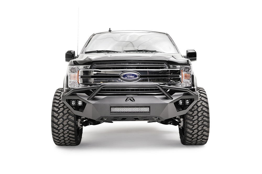 Fab Fours FF18-D4552-1 2018-2021 Ford F-150 Vengeance Front Bumper w/Pre-Runner Guard