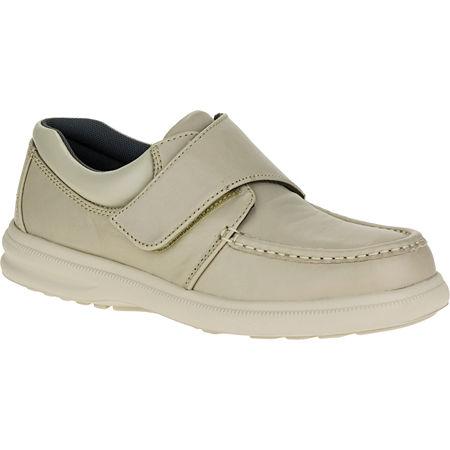 Hush Puppies Gil Mens Moc-Toe Leather Shoes, 7 1/2 Medium, White