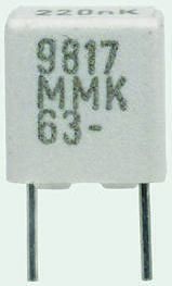 KEMET 2.2nF Polyester Capacitor PET 200 V ac, 400 V dc ±10%, Through Hole (5)