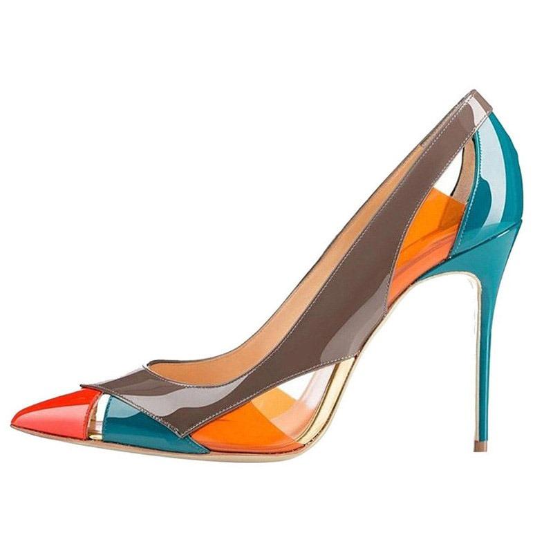 Ericdress Color Block Stiletto Heel Peep Toe Women's Pumps