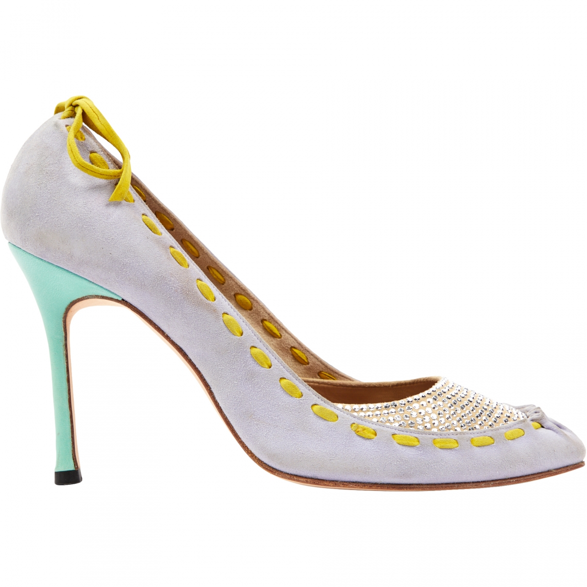 Gianni Versace \N Blue Suede Heels for Women 38 EU