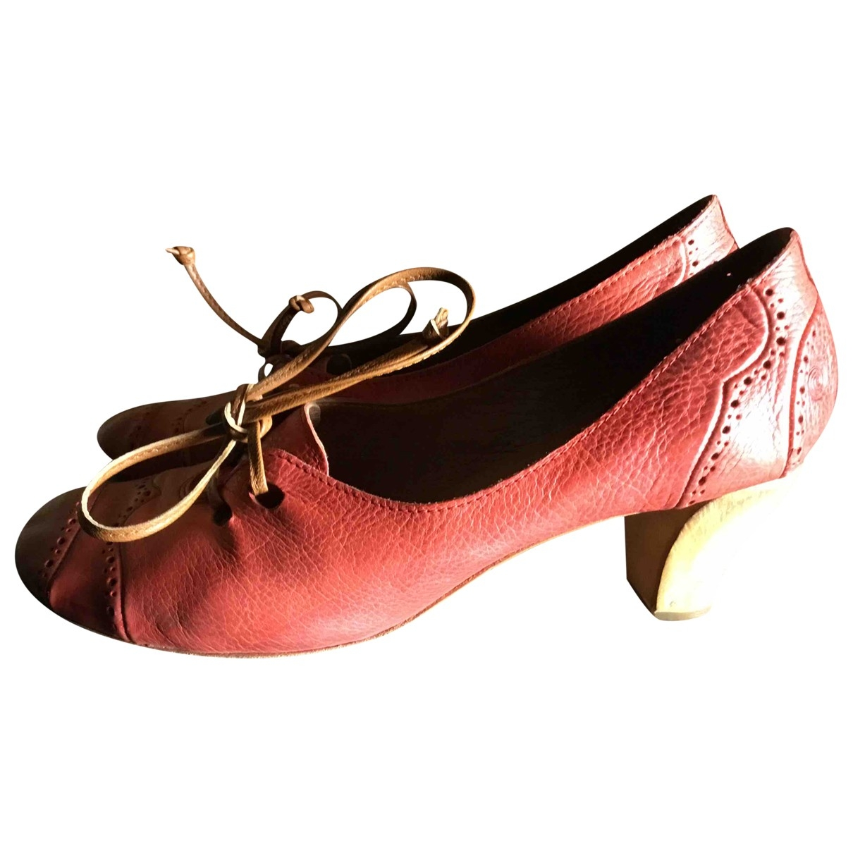 Mars??ll \N Red Leather Flats for Women 38 EU